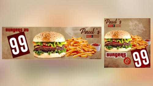 Burger  Ad by  Paul Calwin