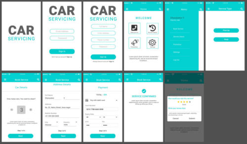 Car Service App UI by - Pavithra