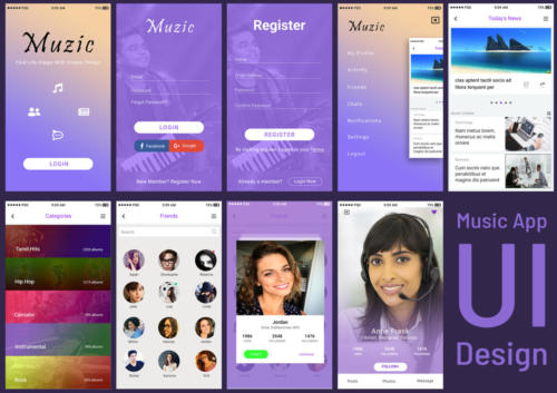 Music App  UI by - Pavithra