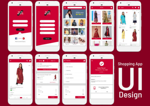 Shopping App UI by - Pavithra